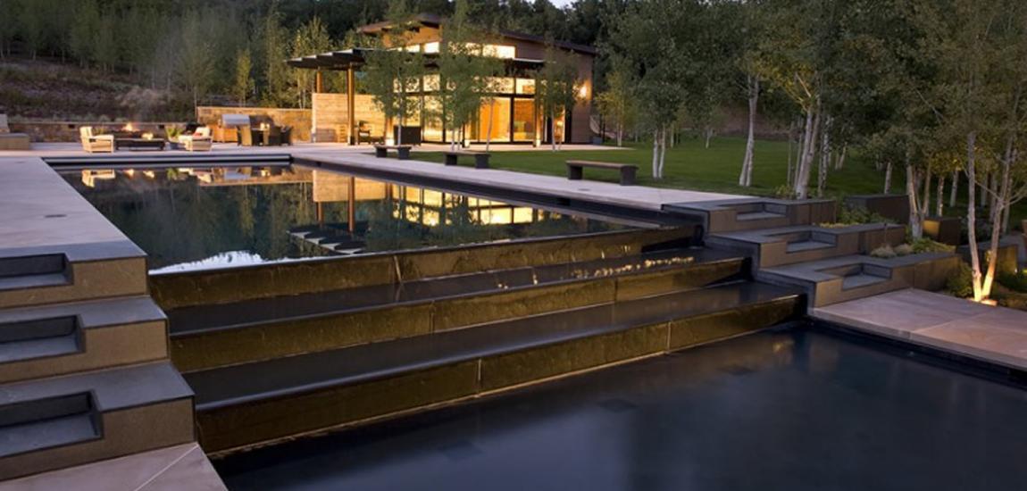 Modern outdoor pool
